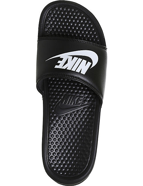 NIKE Benassi logo-detail pool sliders