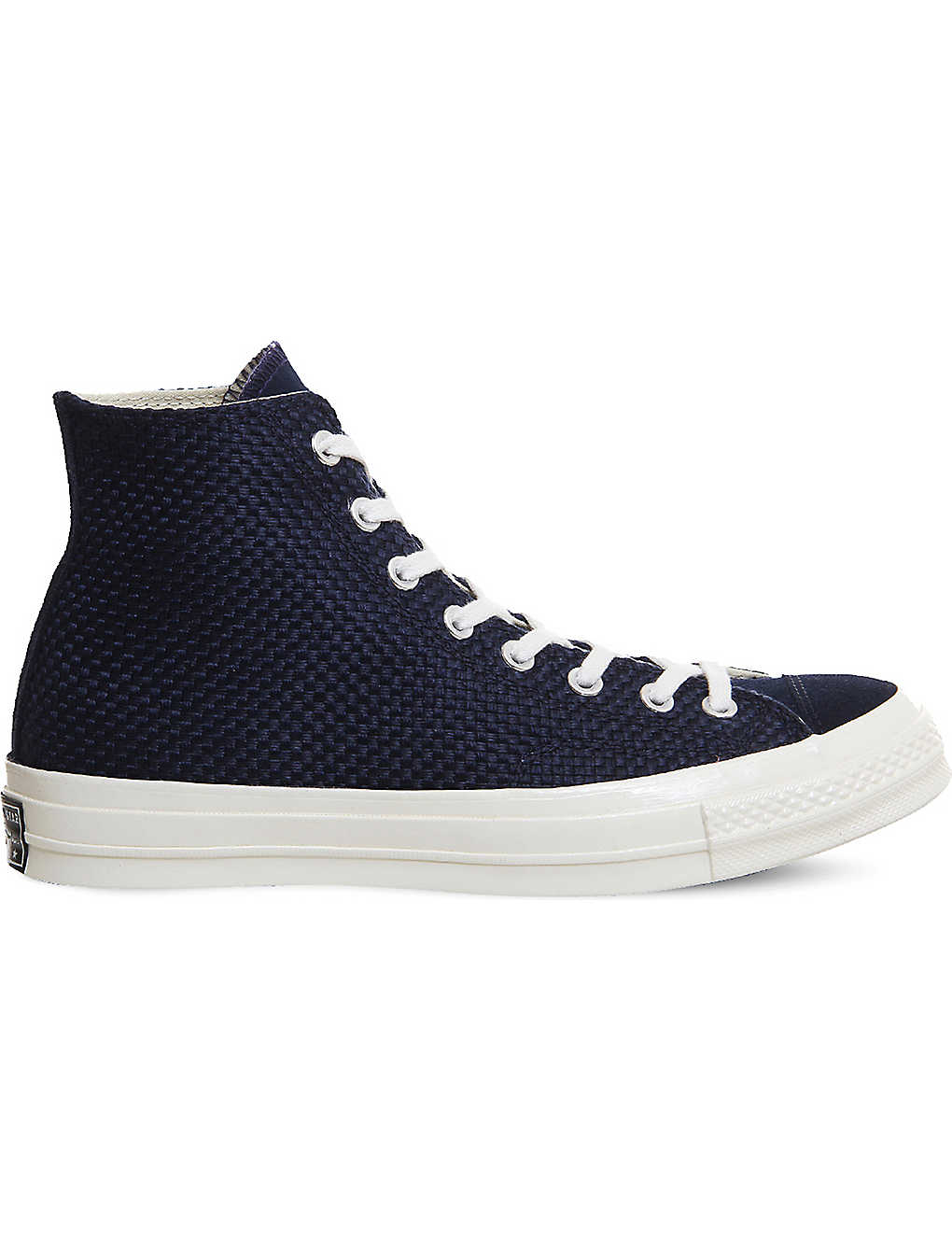 more photos de2ef b73fa CONVERSE All Star 70 woven canvas and suede high-top trainers
