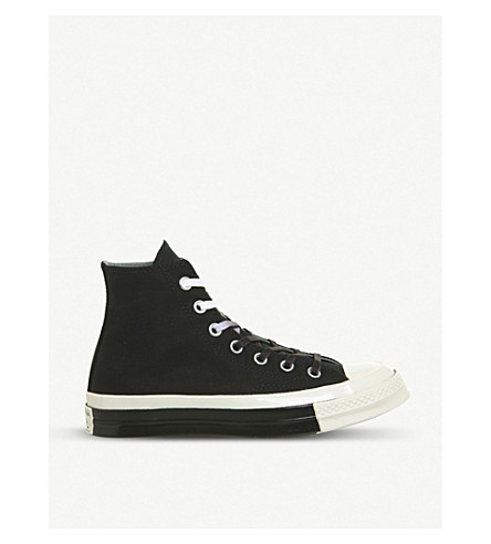 4a48b57c02ee CONVERSE All Star Hi 70 high-top canvas trainers (Black+egret+split