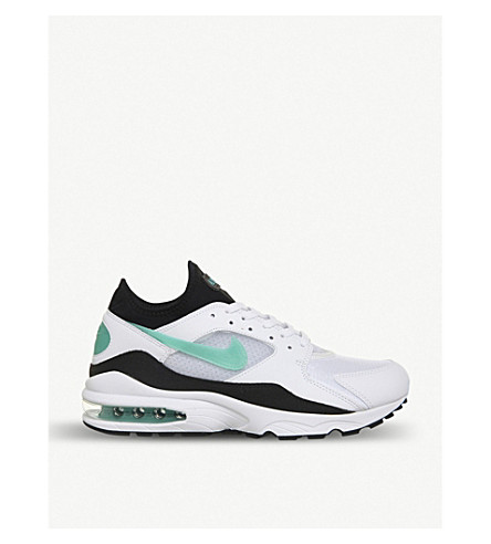 finest selection 4d201 68dac NIKE Air Max 93 leather trainers (White+turquoise