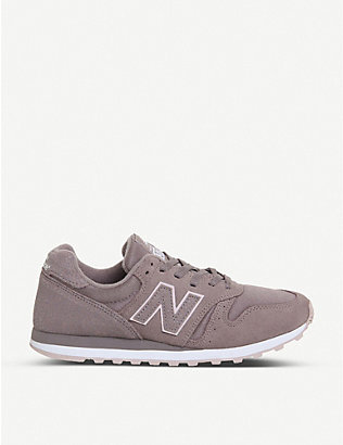 NEW BALANCE: W373 suede trainers