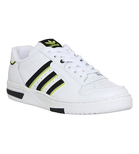 big sale d28a8 9e65e ADIDAS Edberg 86 trainers (White+blacksolar+yel