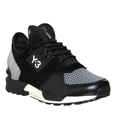 3d7b3d0b8 ADIDAS ZX zip leather trainers (Black