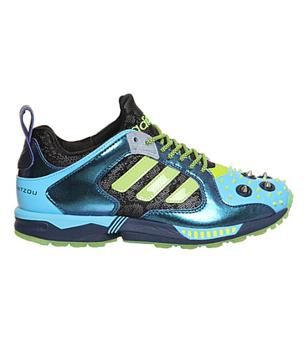 905f4245a ADIDAS Decathlon silver stud zx 5000 trainers by mary katrantzou (Br +cyan+green