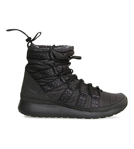 125441143b2c NIKE Roshe Run SneakerBoot (Black+anthracite