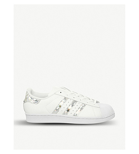 watch fb559 55474 ADIDAS Superstar GS leather trainers (White+silver