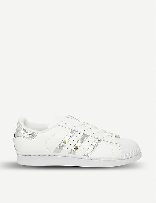 more photos f0b7c 41a54 ADIDAS Superstar GS leather trainers