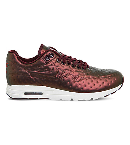 buy popular 658e7 012b7 NIKE Air Max 1 Ultra metallic-jacquard trainers (Metallic+mahogany
