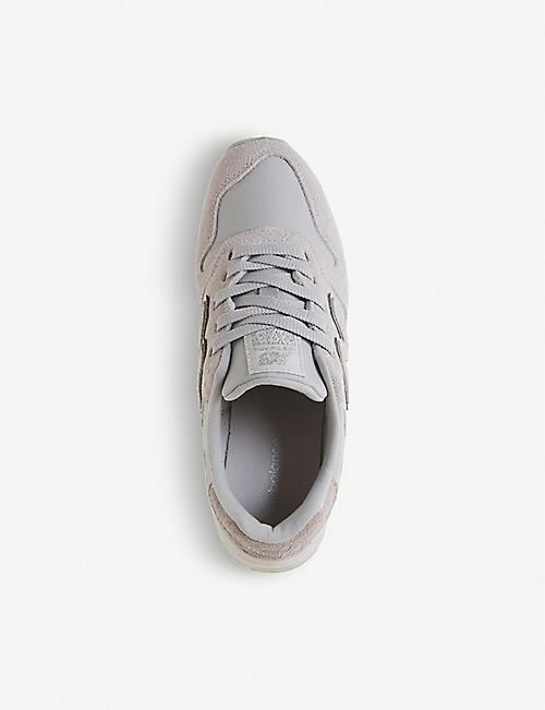 NEW BALANCE Wl373 suede and mesh trainers