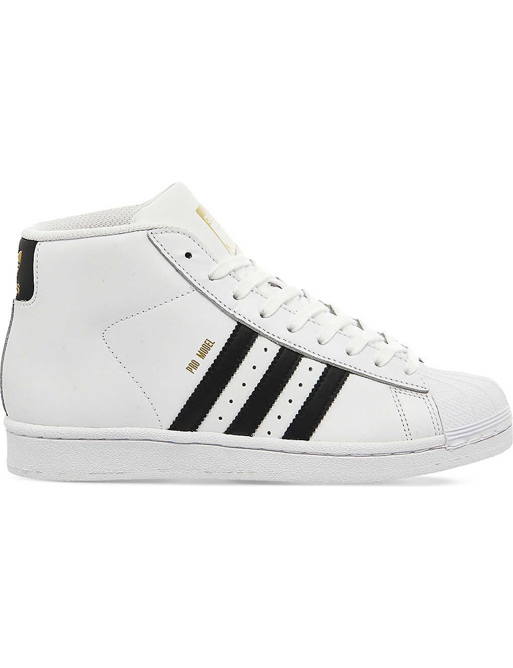 ADIDAS: Pro model leather high-top trainers