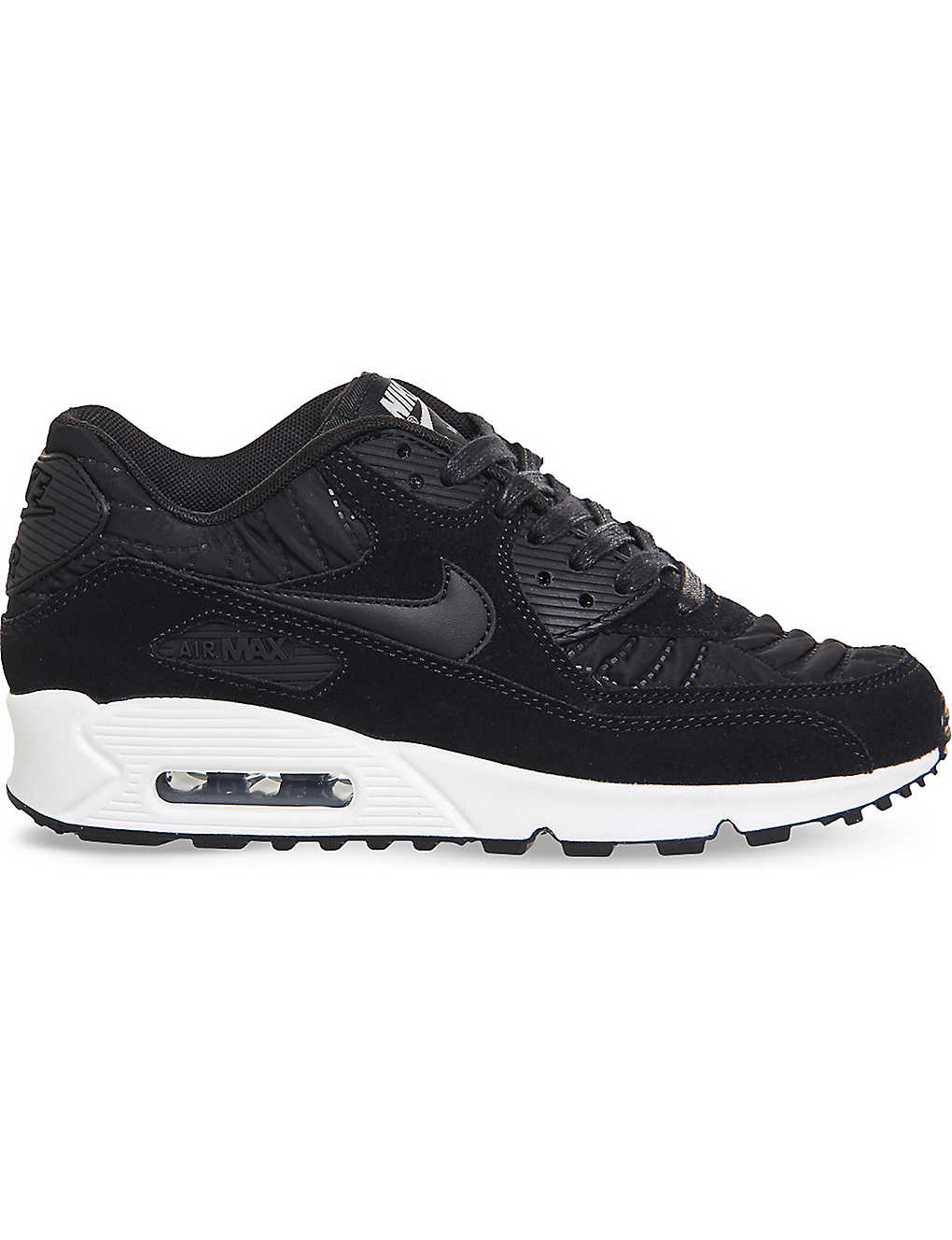 low priced 7c742 49483 NIKE Air Max 90 quilted suede trainers