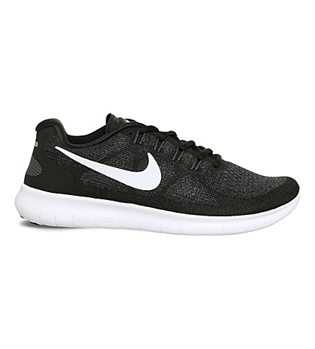 new arrival e8293 badd7 NIKE Free Run 2 Flyknit sneakers (Black+white+grey