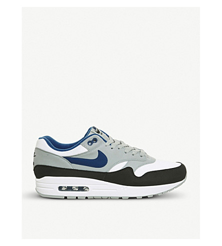 wholesale dealer 4d8ef 29b09 NIKE Air Max 1 leather and mesh trainers (White+gym+blue+black