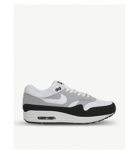 brand new 696b5 68fc1 NIKE Air Max 1 leather and suede sneakers (Wolf grey white