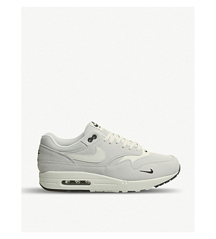 NIKE Air Max 1 mixed leather trainers (Pure+platinum+black 54ed57a55