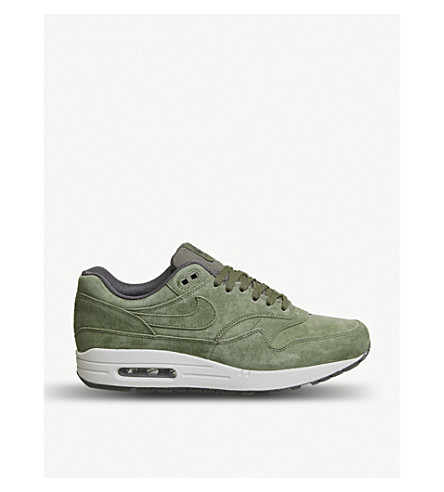 a30d2f55e364 NIKE Air Max 1 suede trainers (Olive+sequoia+light