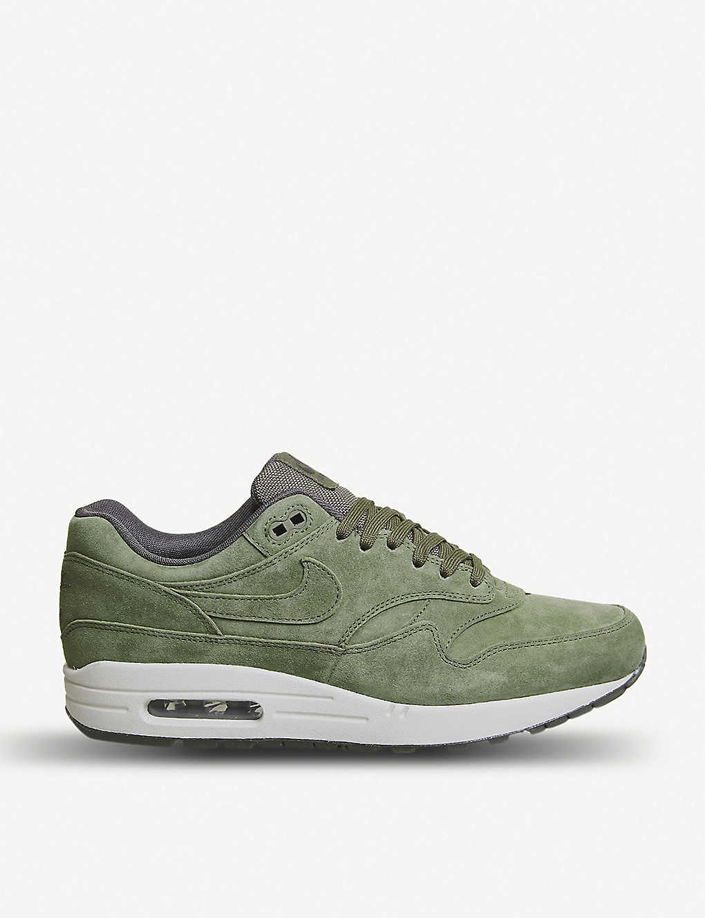 reputable site b732f 2dad7 Air Max 1 suede trainers - Olive sequoia light ...