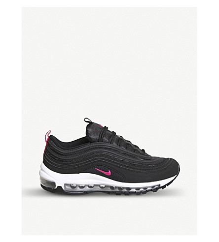 60e1bd2c4e32d NIKE Air Max 97 low-top faux-leather trainers (Black+pink
