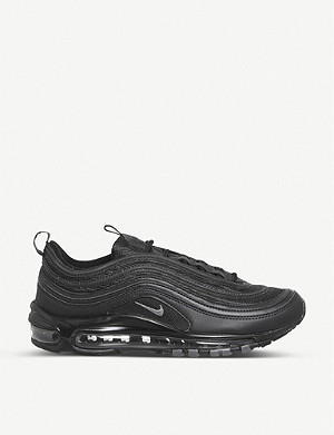 NIKE Air Max 97 leather and mesh trainers