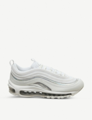 Air Max 97 leather and mesh trainers - Summit white silver