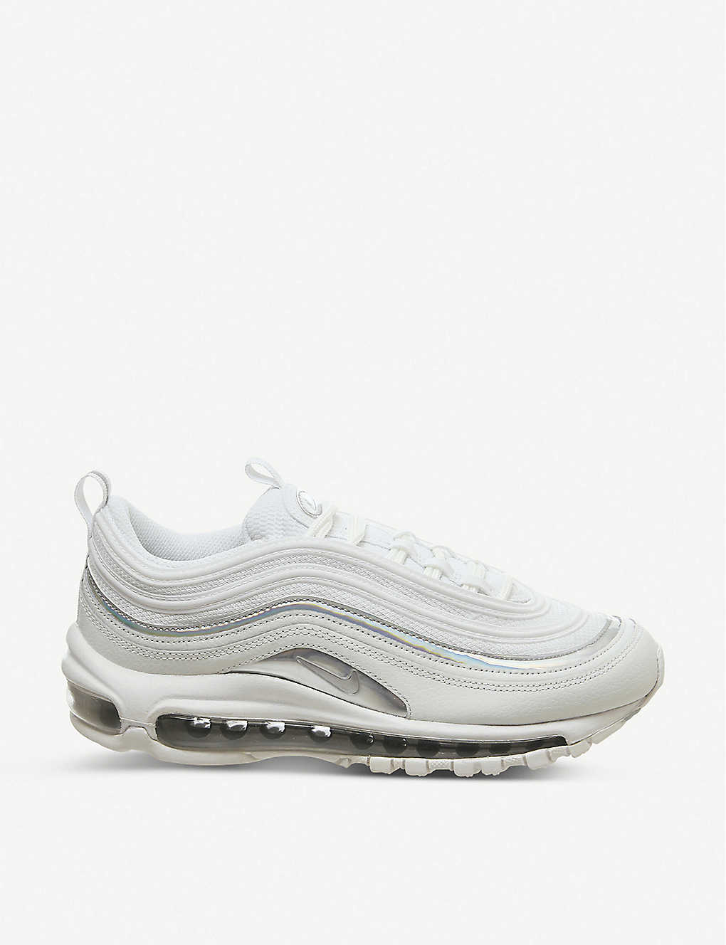 NIKE: Air Max 97 leather and mesh trainers