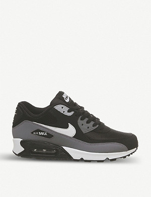 NIKE Air Max 90 leather and mesh trainers