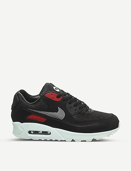 NIKE Air Max 90 leather and textile low-top trainers