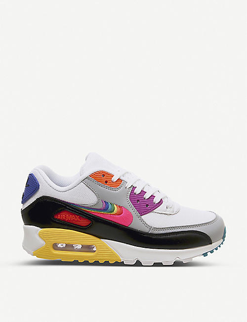 de259a68 NIKE Betrue Air Max 90 leather and mesh trainers