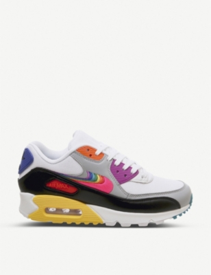 NIKE Betrue Air Max 90 leather and mesh trainers