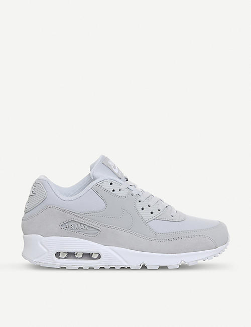 ... sale retailer 78be3 d461e NIKE Air Max 90 mixed leather trainers ... 51dcb6117590
