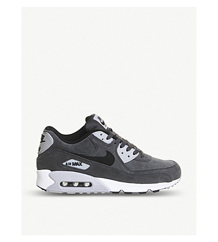 best website b405b 39de3 NIKE Air Max 90 suede trainers (Black+wolf+grey.