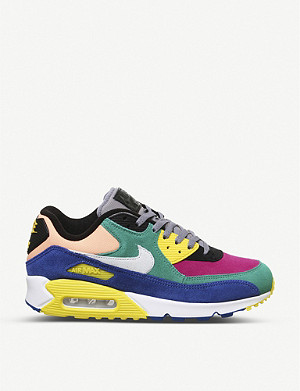 NIKE Air Max 90 Viotech suede panelled trainers