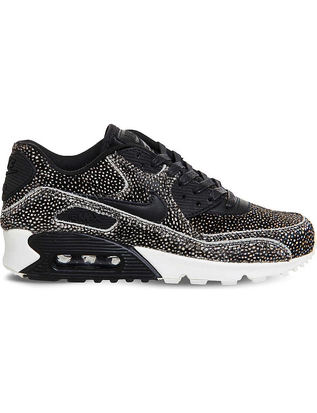 new product f470a 1ba56 NIKE Air Max 90 leopard print faux-pony hair leather trainers