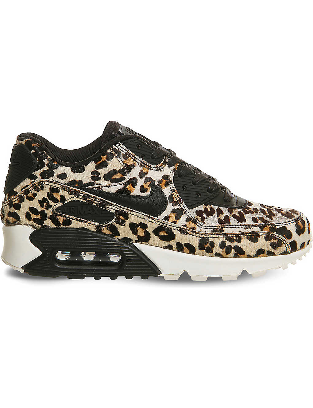 newest 2d346 9675d NIKE Air Max 90 leopard print pony-hair leather trainers