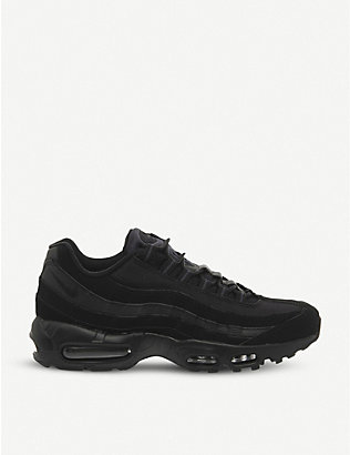 NIKE: Air Max 95 suede and mesh trainers