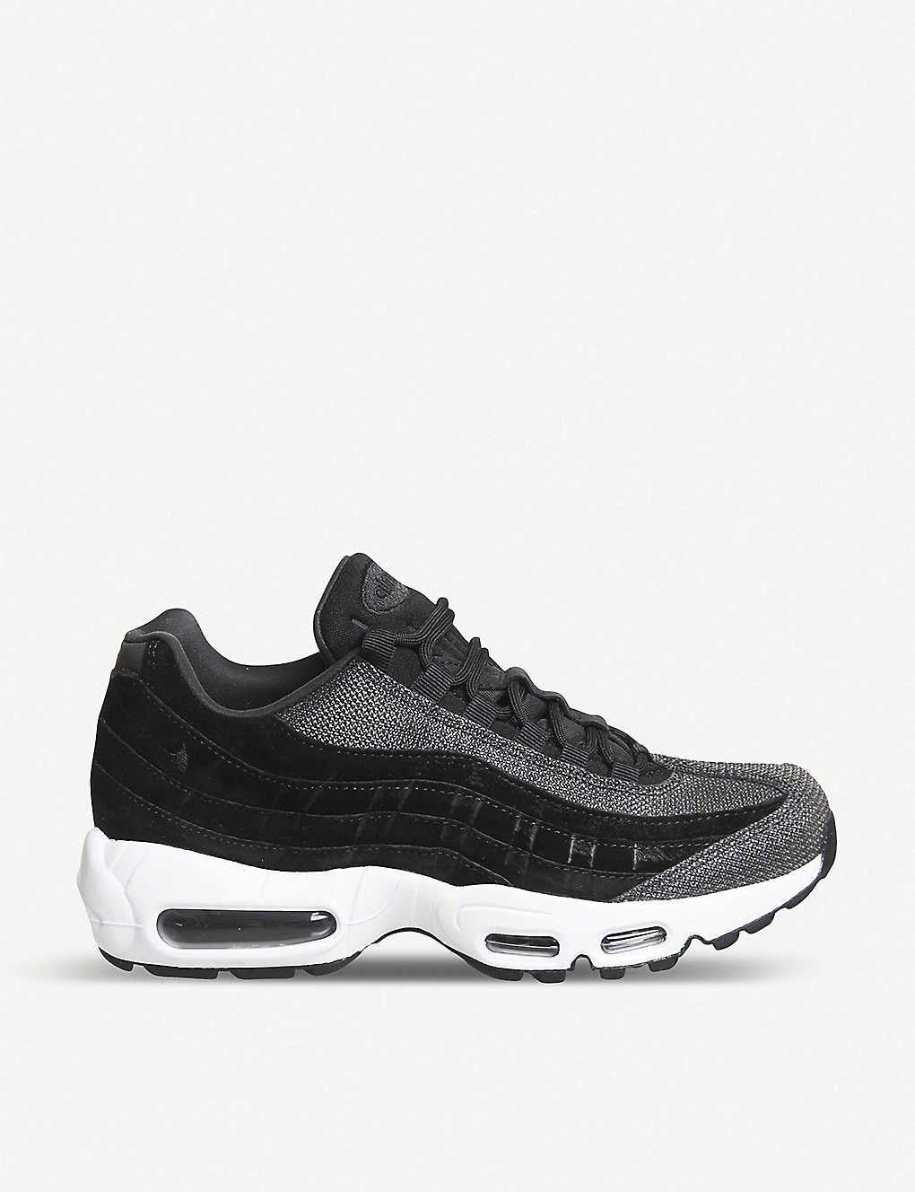more photos 15541 06705 Air Max 95 leather trainers - Black black white ...