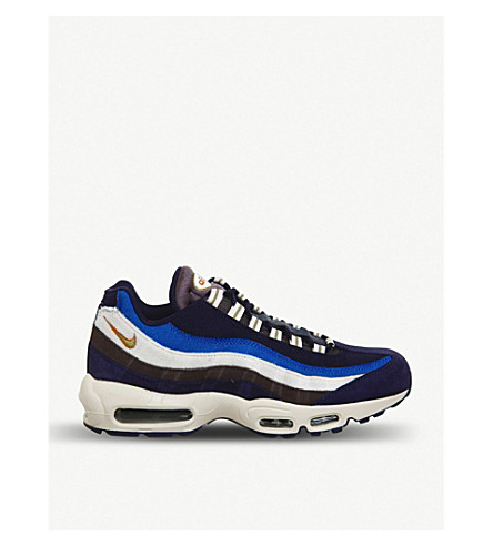 wholesale dealer 3185c ea6f6 NIKE Air Max 95 leather trainers (Blackened+blue