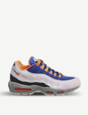NIKE Air Max 95 suede and mesh trainers