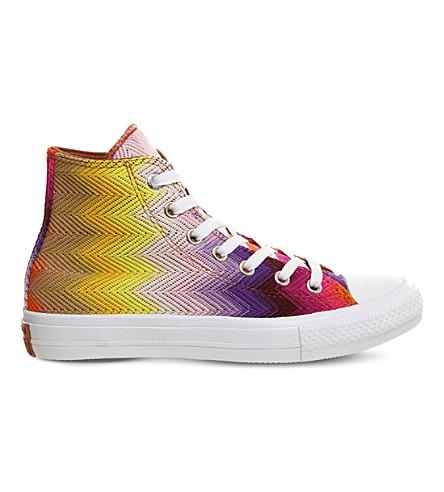 ... CONVERSE Missoni Chuck Taylor All Star II shield high-top sneakers ( Missoni+multi. PreviousNext 61738ef785c