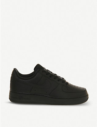 NIKE: Air Force 1 leather trainers
