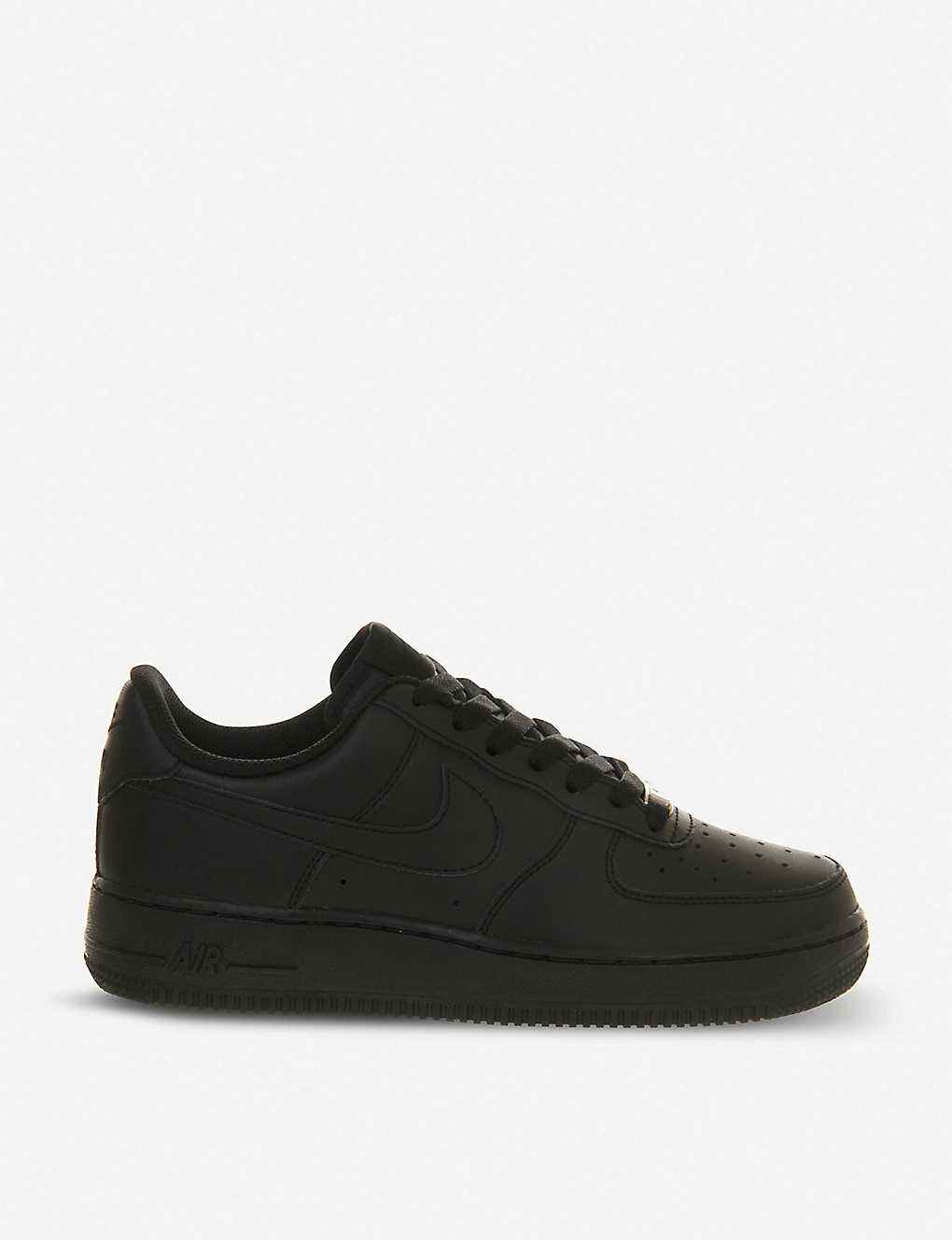 the best attitude dcfa2 9834a Air Force 1 leather trainers - Black ...