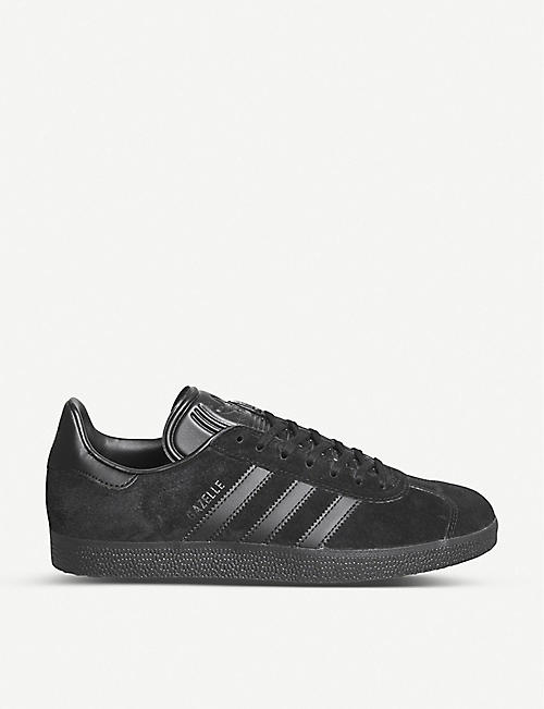 ADIDAS: Gazelle striped-embellishment suede trainers