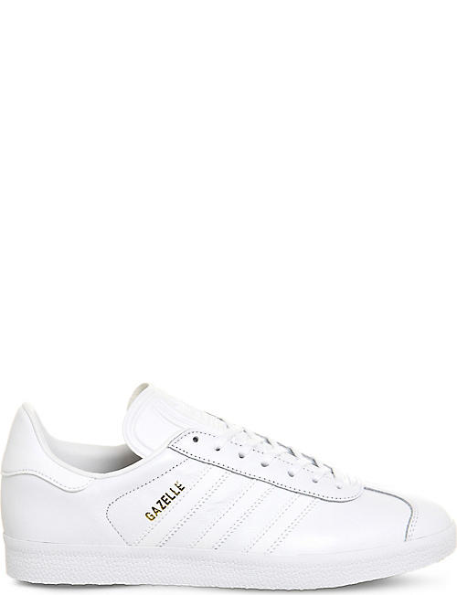 ADIDAS: Gazelle lace-up leather trainers