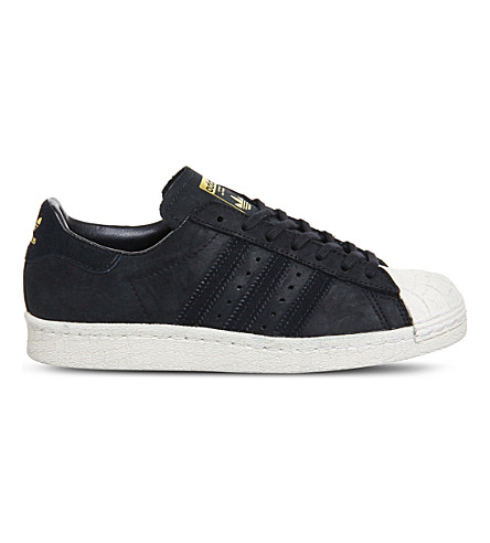 ... ADIDAS Superstar 80s suede trainers (Core+black+off+white. PreviousNext 7aa102e040c5