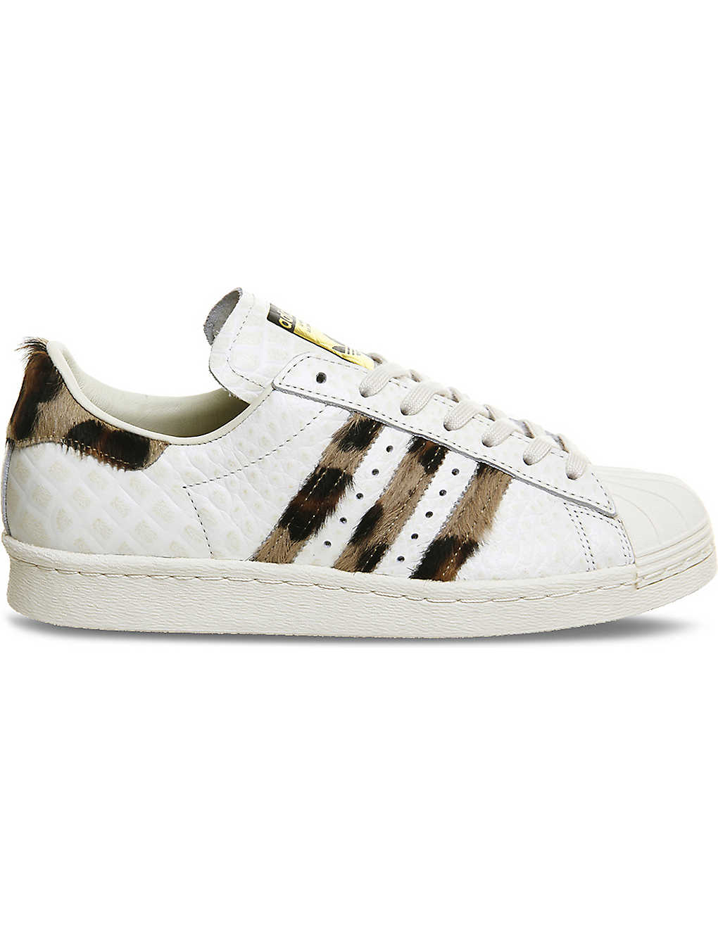 outlet store 4a3e0 6c767 ADIDAS - Superstar 80s snake-embossed leather trainers ...