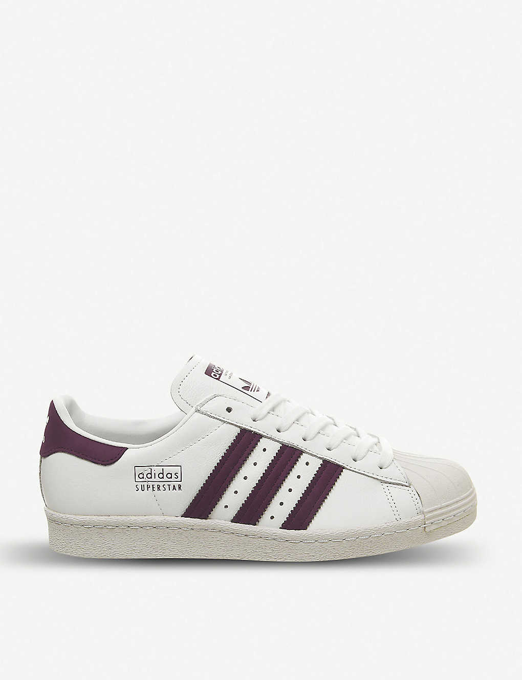promo code 21ce1 42045 Superstar 80s leather trainers - White maroon crystal ...