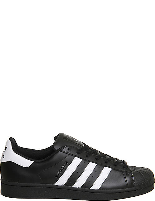 ADIDAS: Superstar 1 leather trainers