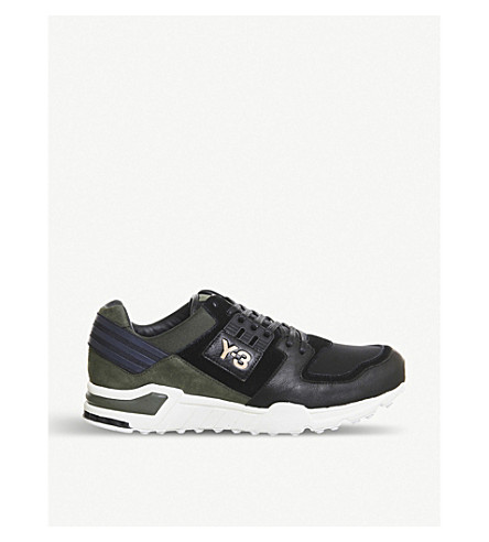 a7ce32a300452 ADIDAS Y3 Y3 Vern EQT leather trainers (Cargo+black+white
