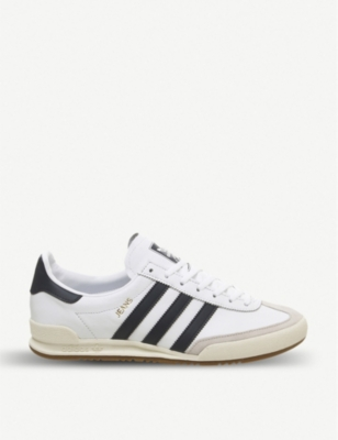 ADIDAS Jeans leather and suede trainers