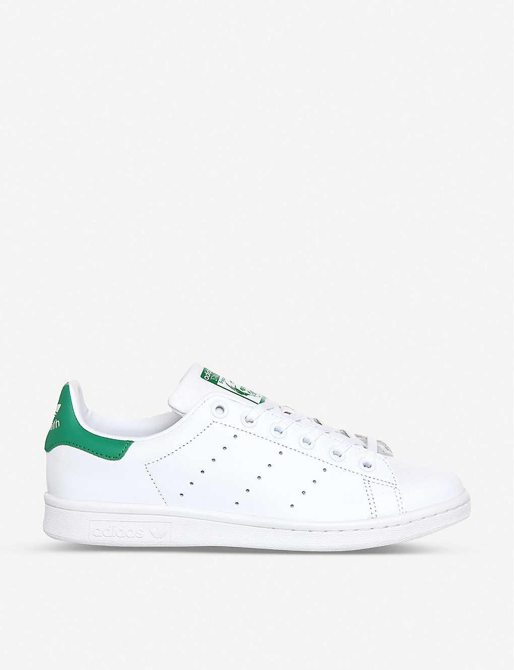 half off e3b96 38658 Stan Smith leather trainers - Core white green ...